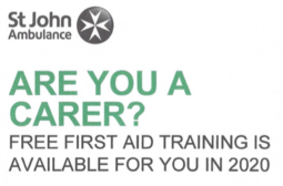 St Johns Ambulance is offering first aid training for Carers across Northamptonshire.